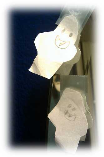 Ghost stories for older children are a great place to practice the facial expressions of terror and surprise