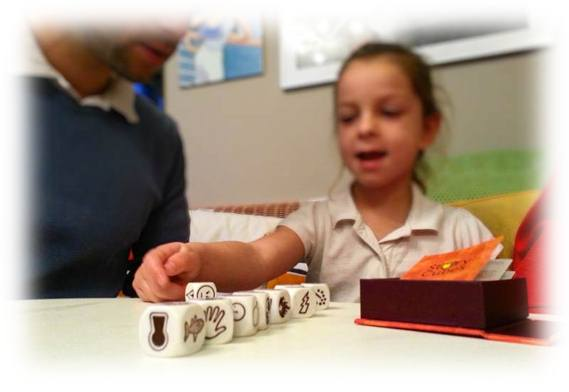 Using Story Cubes to create a children's story on-the-fly and with your kids.